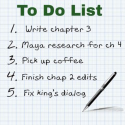 Writer to do list